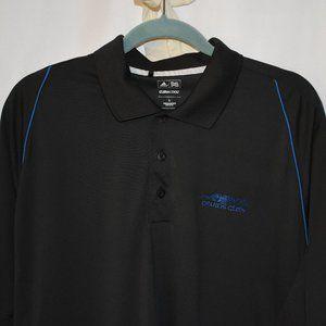 adidas Golf ClimaCool Polo Men's L Blk w/Blue trim